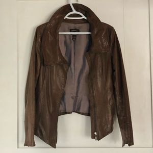 Soft Danier Leather jacket XS Cocoa brown